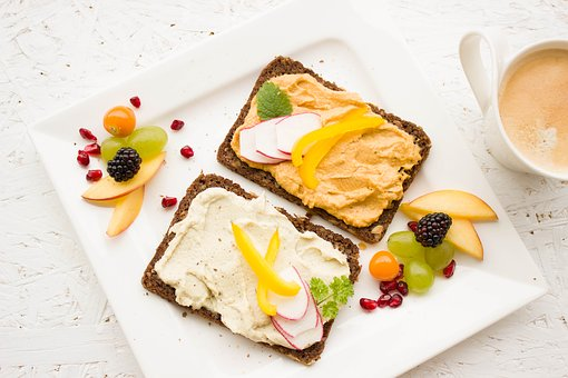 eat healthy bread with healthy snacks